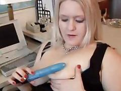 Chubby blonde amateur office sex