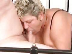 Old and crazy milf fucks some guy while part4