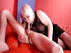 Sexy blonde MILF dr Lucia blows stiff part2